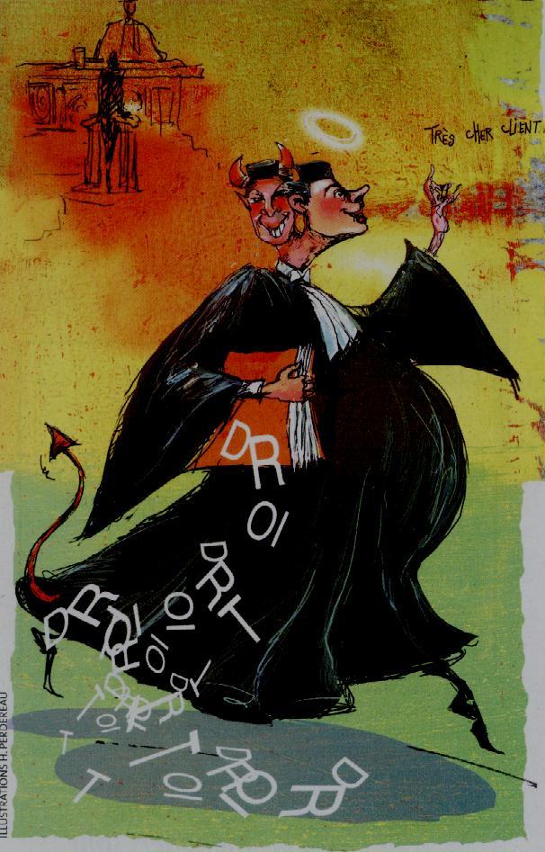 Caricature d'un avocat