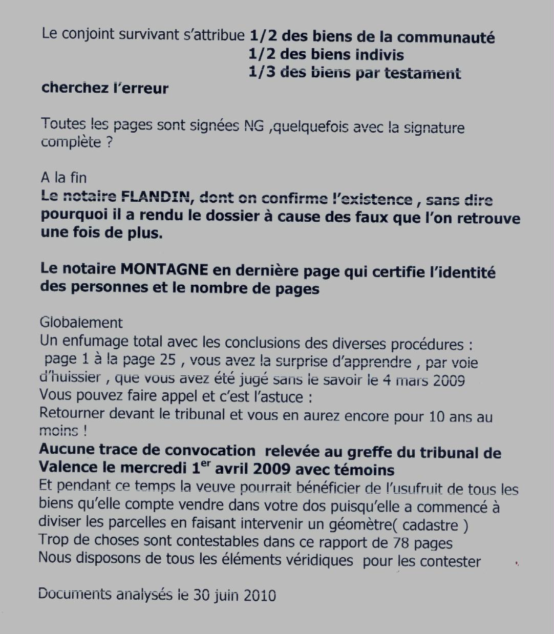 Analyse du 30/6/10 - page 2